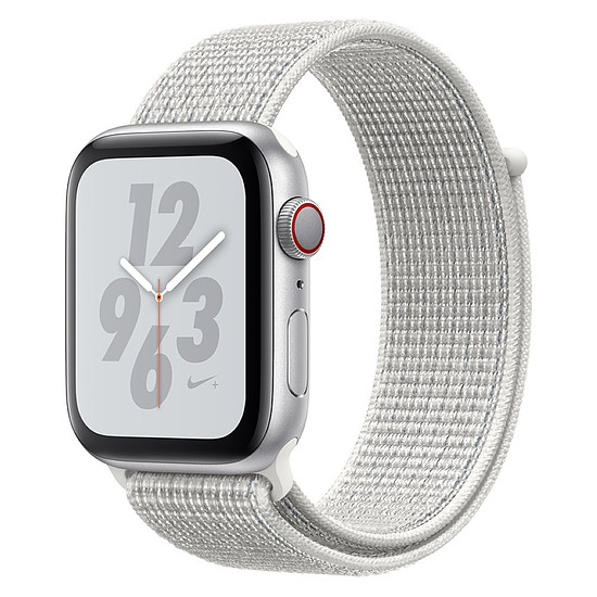 Montre connectée Apple Watch Series 4 Nike+ (argent - blanc) - Cellular - 44 mm