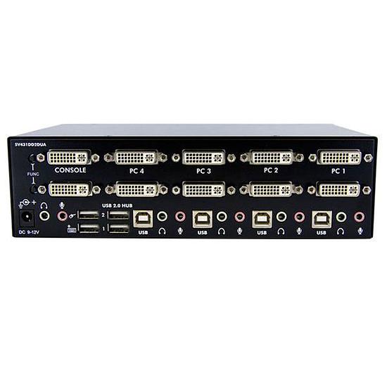 KVM StarTech.com Switch KVM USB 2 Ecrans DVI pour 4 Ordinateurs - Autre vue
