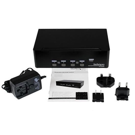 KVM StarTech.com Switch KVM USB 2 Ecrans DVI VGA - Autre vue
