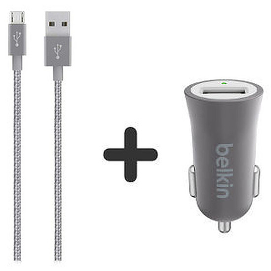 Chargeur Belkin Pack chargeur allume cigare + câble micro USB