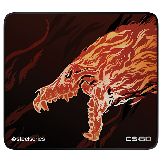 Tapis de souris SteelSeries QcK+ Limited - CS:GO Howl Edition