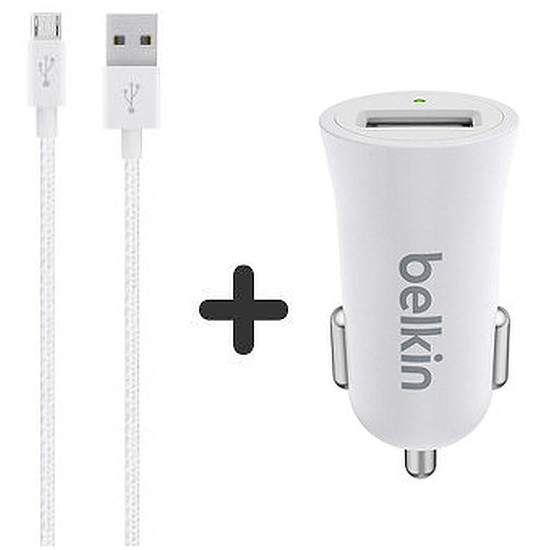 Chargeur Belkin MIXIT Chargeur allume cigare USB + câble USB