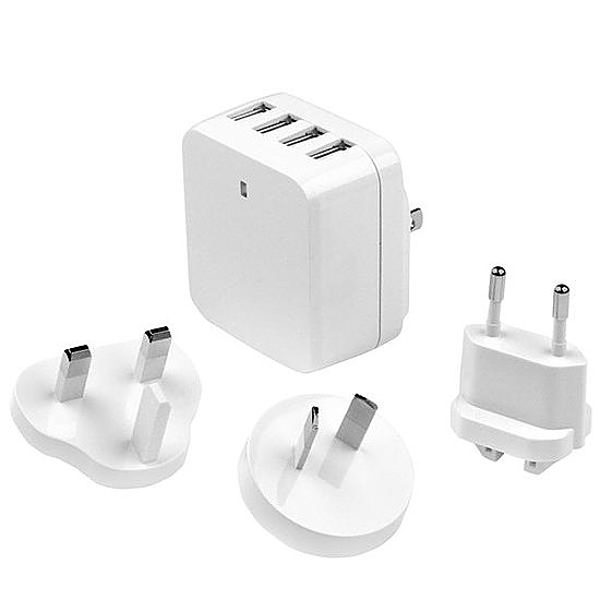 Chargeur StarTech.com Chargeur de voyage USB à 4 ports - Blanc