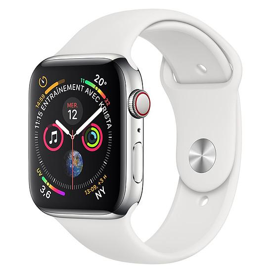 Montre connectée Apple Watch Series 4 (argent - blanc) - Cellular - 40 mm
