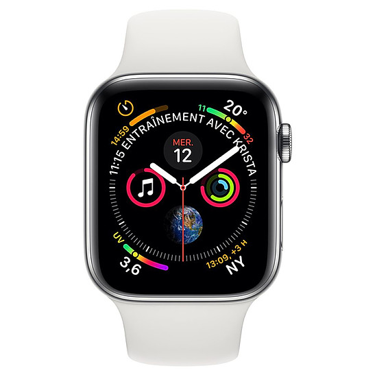 Montre connectée Apple Watch Series 4 (argent - blanc) - Cellular - 40 mm - Autre vue