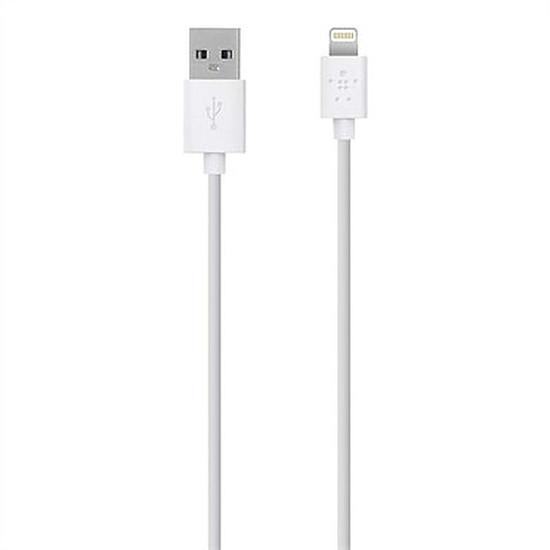 Chargeur Belkin Câble Lightning + chargeur secteur (blanc) - Autre vue