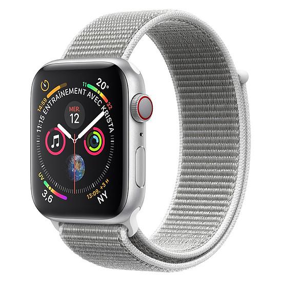Montre connectée Apple Watch Series 4 (argent - coquillage) - Cellular - 44 mm