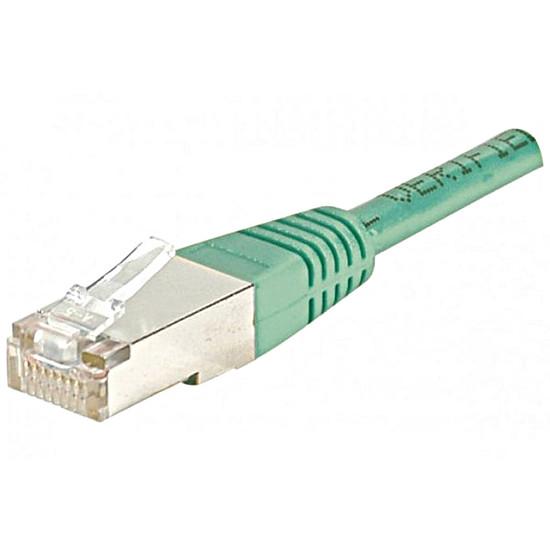 Câble RJ45 Câble Ethernet RJ45 Cat 6 SSTP Vert - 0,15 m
