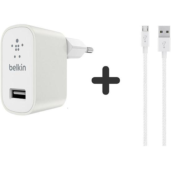 Chargeur Belkin Câble Lightning + chargeur secteur (blanc)