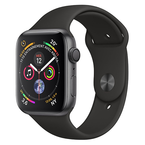 Montre connectée Apple Watch Series 4 (gris sidéral - noir) - GPS - 40 mm