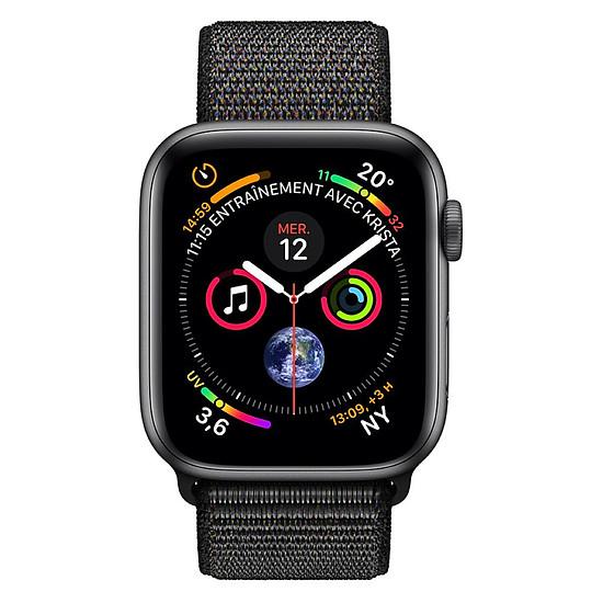 Montre connectée Apple Watch Series 4 (gris sidéral - noir) - GPS - 40 mm - Autre vue