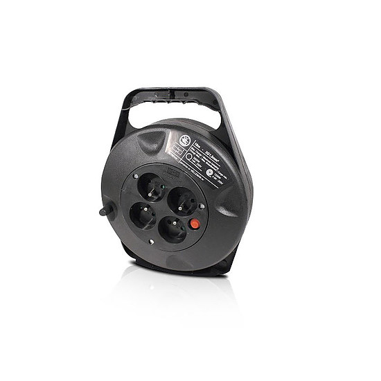 Câble Secteur Enrouleur électrique Noir - 10 m