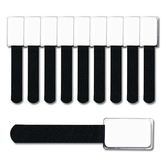 Passe câble et serre câble Mini collier de repérage noir - pack 10
