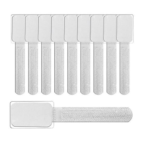 Passe câble et serre câble Fixation autocollante blanc pour câbles - pack 10
