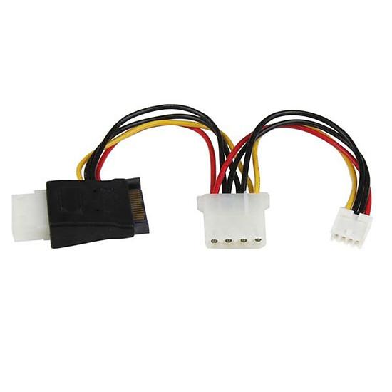 Alimentation StarTech.com Câble d'alimentation SATA / 2 Molex et SP4 - 12 cm
