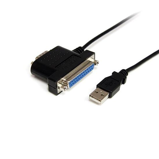 USB StarTech.com Câble adaptateur USB vers série/parallèle 1s1p