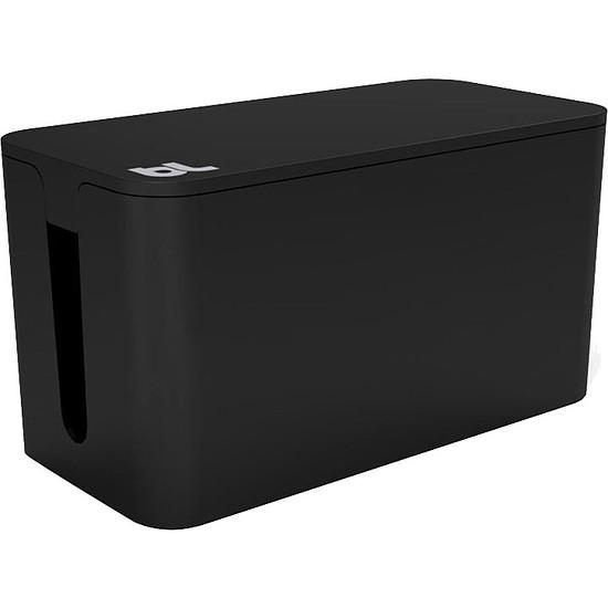 Passe câble et serre câble Bluelounge CableBox Mini Noir Boite de rangement