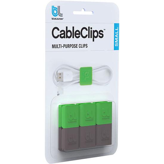 Passe câble et serre câble Bluelounge CableClip Small - Pack x6 - Autre vue