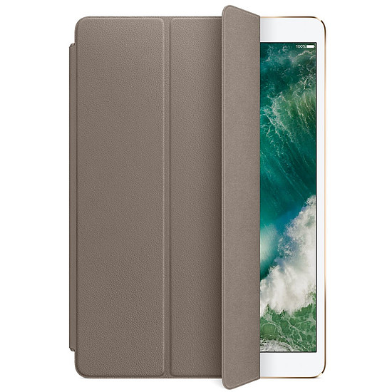 Accessoires tablette tactile Apple Smart cover cuir taupe - iPad Pro 10,5""