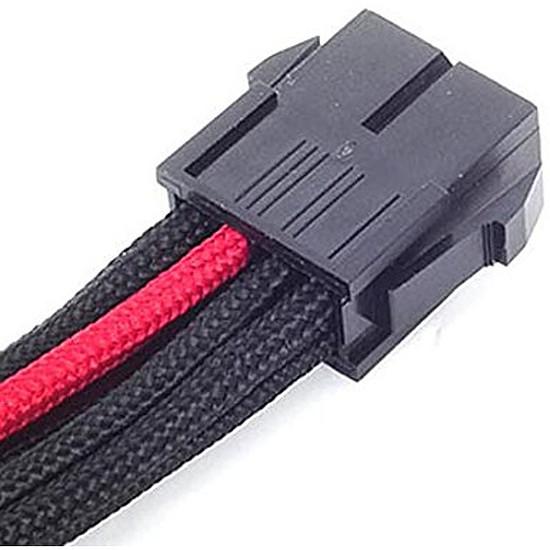Alimentation Silverstone Rallonge alim EPS12V 30 cm - Rouge / Noir - Autre vue