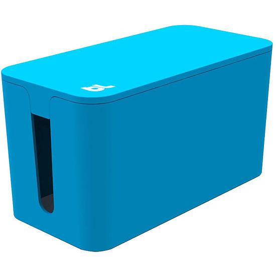 Passe câble et serre câble Bluelounge CableBox Mini Bleu Boite de rangement