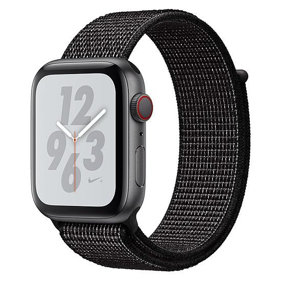 Apple Watch Series 4 - Nike+ - GPS + Cellular - boitier aluminium 40 mm (gris sidéral) - boucle sport Nike (noir)