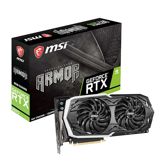 Carte graphique MSI GeForce RTX 2070 ARMOR - 8 Go