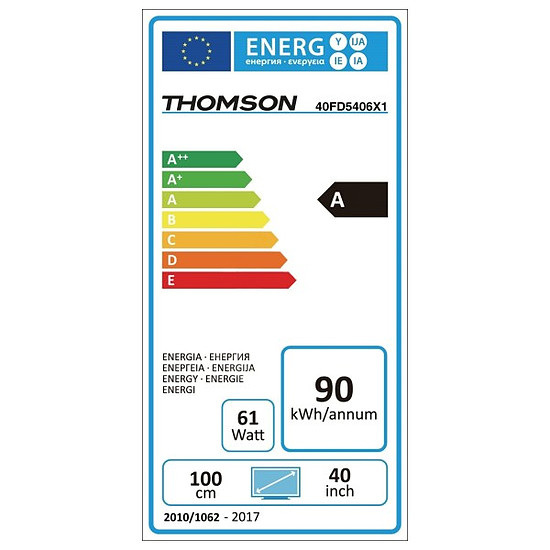 TV Thomson 40FD5406 TV LED Full HD 101 cm - Autre vue