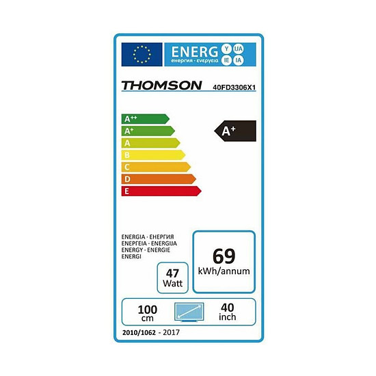 TV Thomson 40FD3306 TV LED Full HD 101 cm - Autre vue