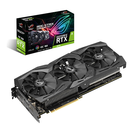 Carte graphique Asus GeForce RTX 2070 ROG STRIX OC - 8 Go GDDR6
