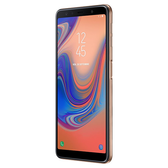 Smartphone et téléphone mobile Samsung Galaxy A7 (or) - 64 Go - 4 Go