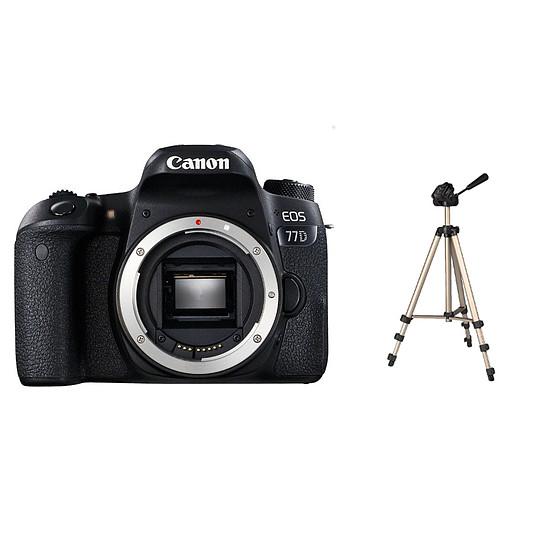 Appareil photo Reflex Canon EOS 77D (Boitier nu) + Trépied