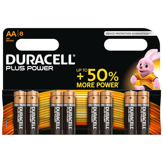 Pile et chargeur Duracell Piles Alcaline Plus Power AA LR06 (par 8)