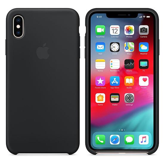 Coque et housse Apple Coque silicone (noir) - iPhone XS Max - Autre vue