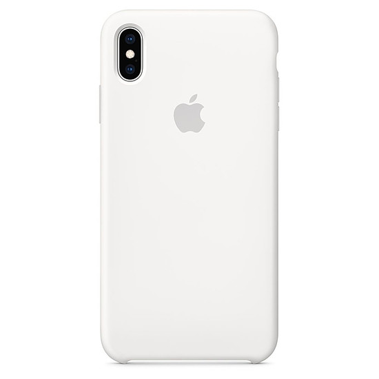 Coque et housse Apple Coque silicone (blanc) - iPhone XS Max - Autre vue
