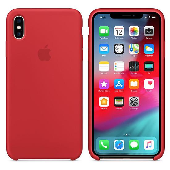 Coque et housse Apple Coque silicone (rouge) - iPhone XS Max - Autre vue