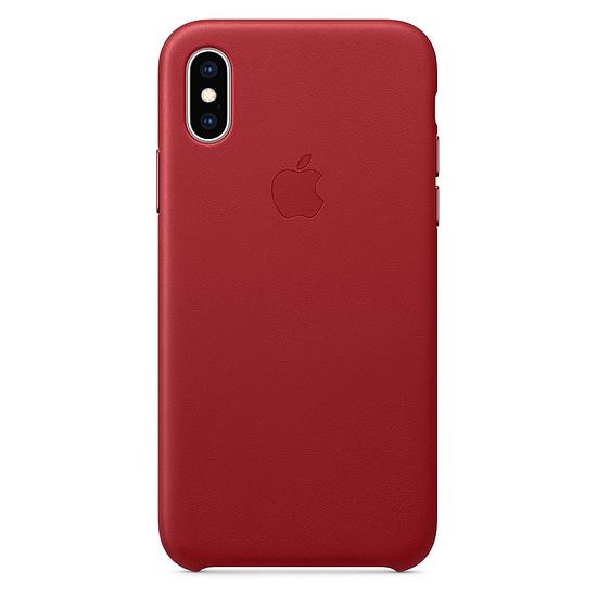 Coque et housse Apple Coque Leather Case iPhone XS (rouge) - Autre vue