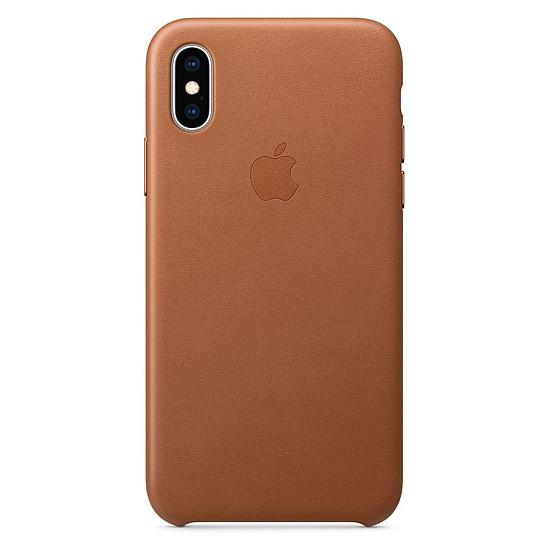 Coque et housse Apple Coque Leather Case iPhone XS (havane) - Autre vue