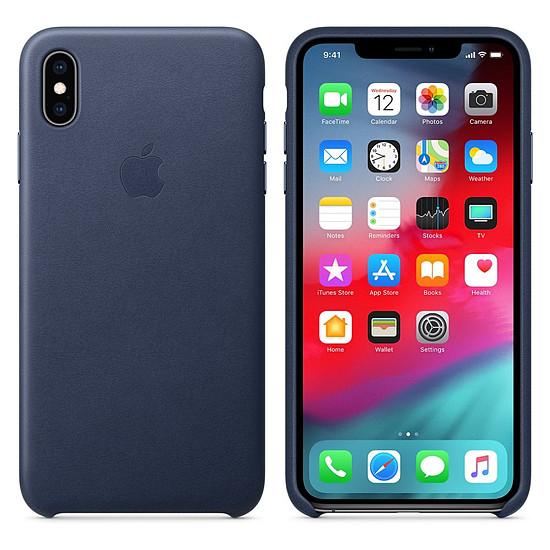 Coque et housse Apple Coque Leather Case iPhone XS Max (bleu nuit) - Autre vue