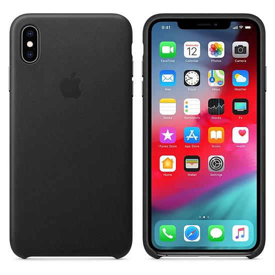 Coque et housse Apple Coque Leather Case iPhone XS Max (noir) - Autre vue