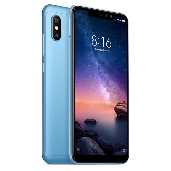 Smartphone et téléphone mobile Xiaomi Redmi Note 6 Pro (bleu) - 64 Go - 4 Go