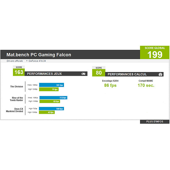 PC de bureau Materiel.net Falcon [ PC Gamer ] - Autre vue