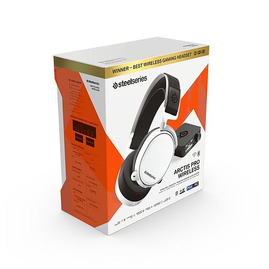 Casque micro SteelSeries Arctis Pro Wireless - Blanc - Autre vue