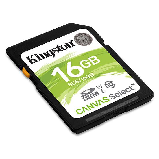 Carte mémoire Kingston SDHC 16 Go Canvas Select (80 Mo/s) - Autre vue