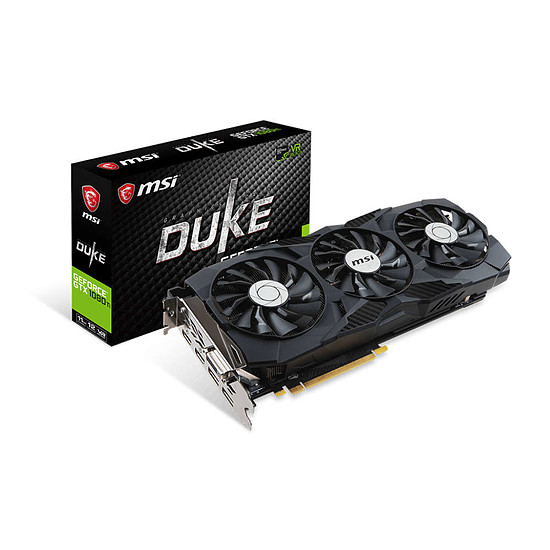 Carte graphique MSI GeForce GTX 1080 Ti DUKE OC - 11 Go