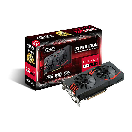 Carte graphique Asus Radeon RX 570 OC Expedition - 4 Go