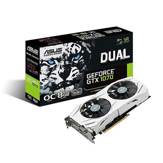 Carte graphique Asus GeForce GTX 1070 Dual OC - 8 Go