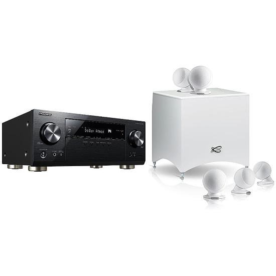 Ensemble Home-Cinéma Pioneer VSX-933 Noir + Cabasse Alcyone 2 Blanc