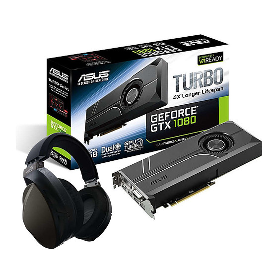 Carte graphique Asus GeForce GTX 1080 Turbo + ROG Strix Fusion Wireless