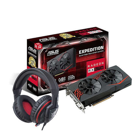 Carte graphique Asus Radeon RX 570 OC Expedition + Orion Pro
